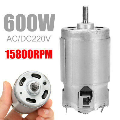 UK AC/DC220V 600W 15800RPM High Speed Torque Electric Power Carbon Brushes Motor