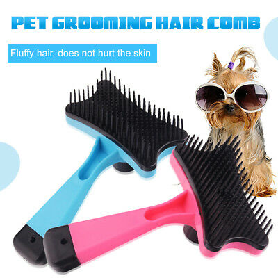 1 PC Dog Cat Puppy Hair Shedding Grooming Trimmer Fur Comb Slicker Brush