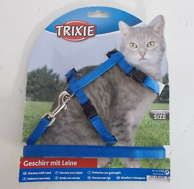 Trixie Cat Harness with Lead Blue 4188
