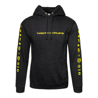 TWENTY ONE PILOTS Logo Black Heavy HOODIE - Official 21 Pilots Trench Merch