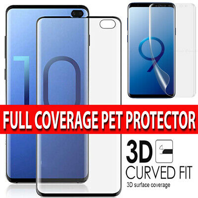 Samsung Galaxy S10 PLUS S10 S10e PET SCREEN PROTECTOR CURVED FIT - Case Friendly