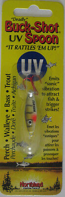 Northland Tackle Buck Shot Glider Rattle Spoon Glo Redfish Glow 1//8 oz