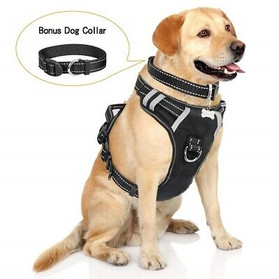 WINSEE Dog Harness, No-Pull Walking Pet Vest Harness with Handle and Front/Back