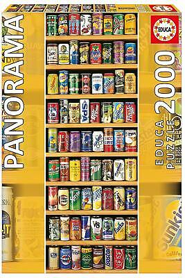 Soft Drinks Soda Cans ~ 2000 Piece Educa Panorama Jigsaw Puzzle