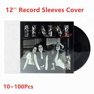 """10~100Pcs 12"""" 4mil Thick LP Plastic Vinyl Record OUTER Sleeves Covers"""