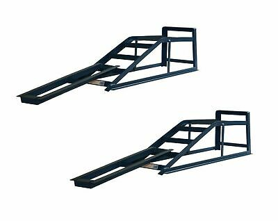 Pair of 2 Tone Car Ramps with Extensions CR2RM1
