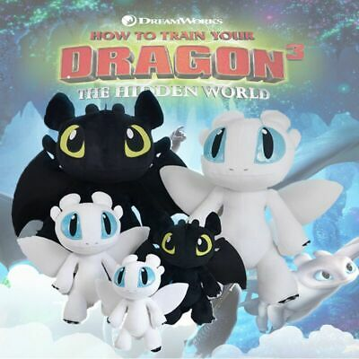 How to Train Your Dragon Toothless Night Fury Stuffed Plush Doll Toy Kids Gift