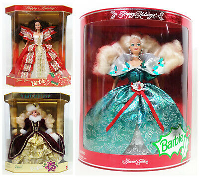 Happy Holiday Special Edition Barbie Dolls Lot Of 3 NRFB