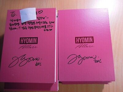 Hyomin (T-ara) - Allure (3rd Mini Promo) with Autographed (Signed)