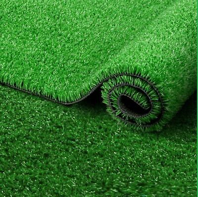 New Dark Artificial Grass Lawn Garden Fake Realistic Astro Turf Matt 15mm Pile
