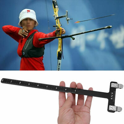 Black Red T Square Archery Ruler for Compound Bow Recurve Bow Field Shooting HE