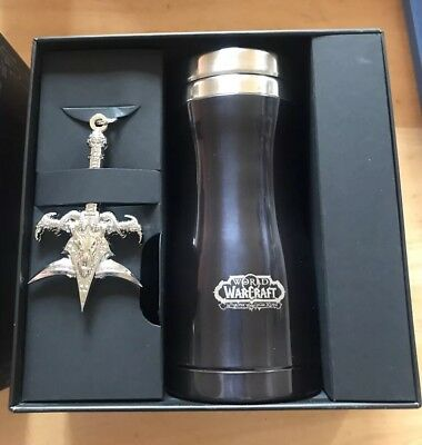 VHTF: Word Of Warcraft Wrath Of The Lich King Travel Mug And key Ring