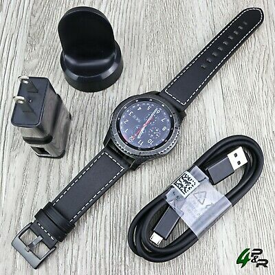 Samsung SM-R760 Gear S3 Frontier Android Smartwatch w/ Leather Band Medium Size