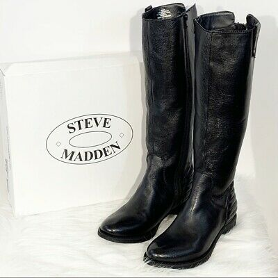 544107c6583 Steve Madden Womens Arries Black Knee-High Boots Size 7.5. NEW IN BOX