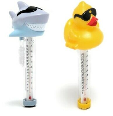 Game Swimming Pool Spa & Hot Tub Spa Floating Thermometer - Rubber Duck & Shark