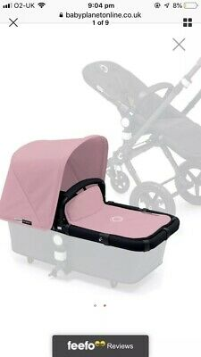 Bugaboo cameleon 3 soft pink canvas fabric set extantdable Hood  apron covers !!
