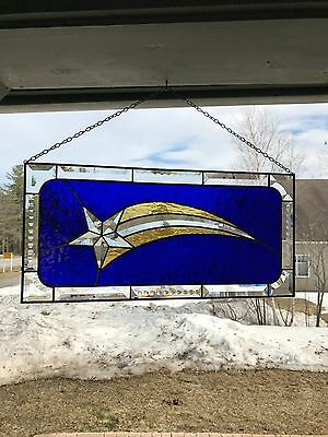 Shooting Star Beveled Stained Glass Panel