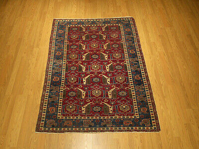4 x 6 Fine Quality Antique 1890/1900 Handmade Caucasian Wool Rug_Great Condition