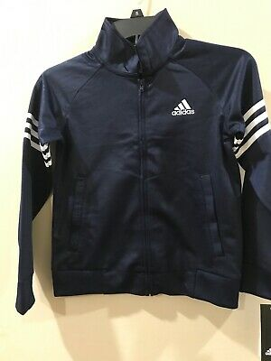NEW Boys Adidas Moto Camo Track Jacket Navy Zip Size 8