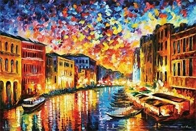 Leonid Afremov Grand Canal Grand Canal Venice Laminated Poster (36 x 24)