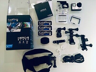 GoPro Hero 4 Black Action Camera + Accessories + Smatree Stick (Mint Condition)