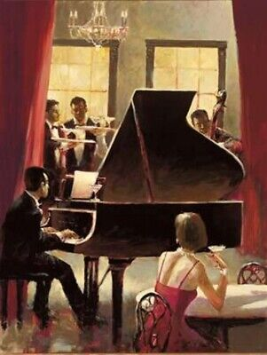 Piano Jazz Poster Print by Brent Heighton (11 x 14)
