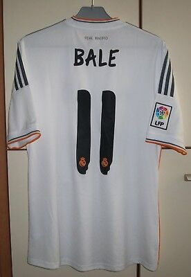 Real Madrid 2013 2014 Home Football Shirt Jersey Camiseta 11 Bale