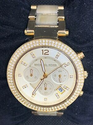 1f825158a175 Michael Kors MK5632 Women s Watch Chronograph Champagne Dial Ladies Analog  O761