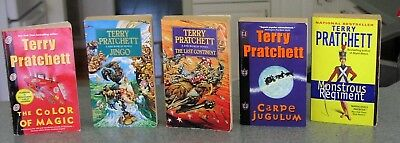 Lot Of 6 Discworld Series by Terry Pratchett Mixed Lot VG Condition