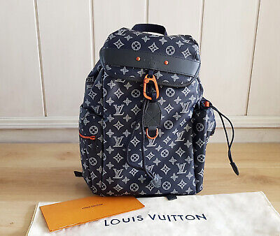 ed0c18e447ea Louis Vuitton Discovery Backpack Monogram Upside Down Ink Navy Canvas Bag