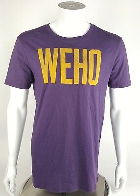 a59169732883d WEHO Local Pride By Todd Snyder Mens Size Medium Purple Graphic Tee Shirt  NWOT