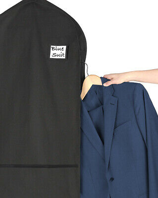 Living Solutions (2 Pack) Deluxe Garment Bags With Pockets For Storage Travel Su