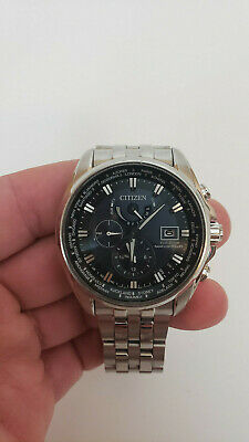 Citizen AT9030-80L Eco-Drive Men's 44mm World Time Atomic Watch *SHIPS FREE*