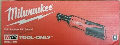 """Milwaukee 2457-20 M12 12V 3/8"""" Inch Cordless Ratchet Tool Only"""