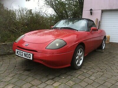 FIAT BARCHETTA in classic ROSSO RED with Original Alloys etc + Hardtop to match
