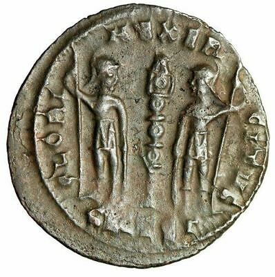"""ROMAN SOLDIERS Ancient Coin Emperor Constantine II """"Shields & Spears"""" CERTIFIED"""