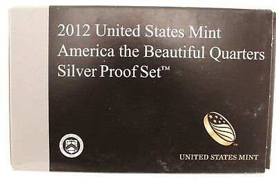 """2012 S United States Mint """"america The Beautiful"""" Quarters Silver Proof Set 3/13"""