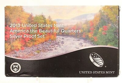 """2013 S United States Mint """"america The Beautiful"""" Quarters Silver Proof Set 3/13"""