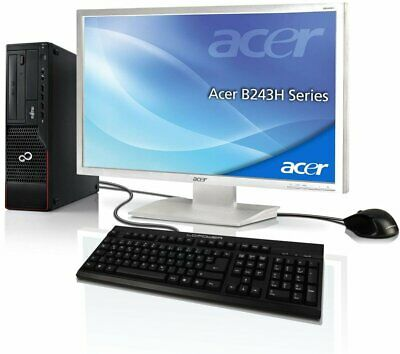 "PC Komplett Set + Acer 24"" TFT Computer Pentium G640 2x2.8 GHz 4GB 250GB Win10"