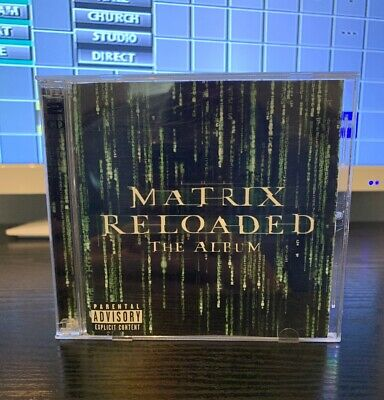 "*SHIPS SAME DAY* MATRIX RELOADED "" THE ALBUM""  Movie soundtrack 2 cd discs"