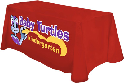 Full color front tablecloth for 4 foot table