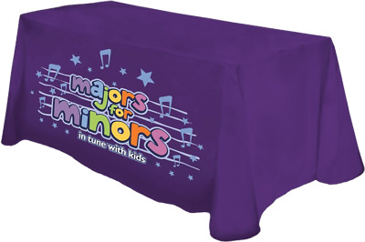Full color front tablecloth for 8 foot table
