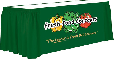 Full color front 13 foot table skirt, shirred