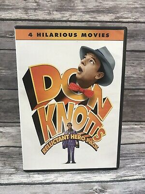 Don Knotts Reluctant Hero Pack 4 Comedy Movie Collection 2-Disc DVD Set