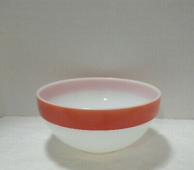 FIRE KING PINK COLONIAL BAND 8 3/4 Inch NESTING BOWL