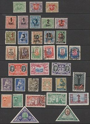Lithuania - Old Mint & Used Collection from 1919 to 1940 (2 scans)