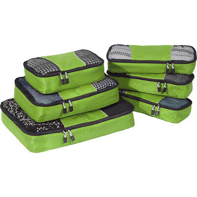 eBags Classic Packing Cubes - 6pc Value Set 10 Colors Travel Organizer NEW