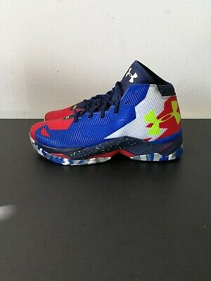 best service 77a26 d9b81 MEN'S UNDER ARMOUR Curry 2.5 Basketball Shoes Size 10.5 Red Blue 1274425 402