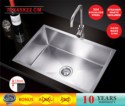 550X500X220 Handmade Stainless Steel Under/Topmount Kitchen Laundry  Sink