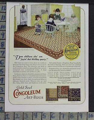 1923 Home Decor Gold Seal Congoleum Art Rugs Bedroom Kitchen Vintage Ad Cp59